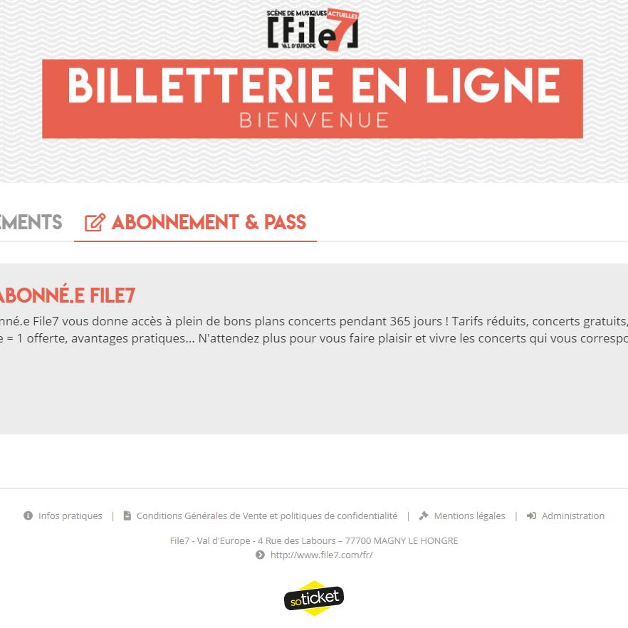 File7 gère sa propre billetterie avec une transparence des données et une politique de confidentialité stricte. © DR