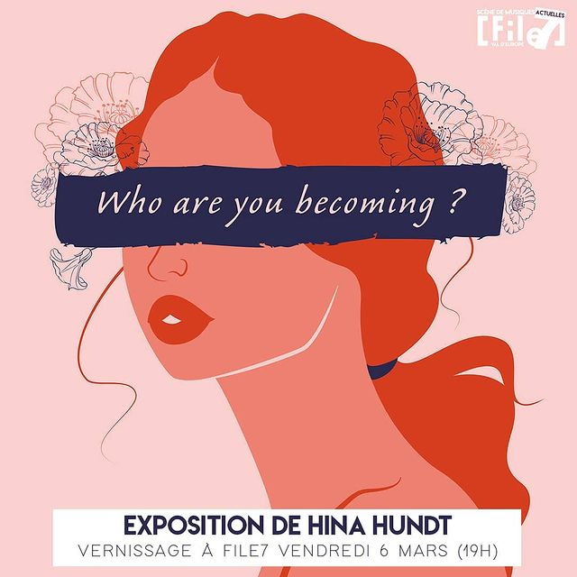 """Vernissage de l'exposition """"Who are you becoming ?"""" de Hina Hundt, présentant les femmes sous leurs traits sensuels et décomplexées. © DR"""